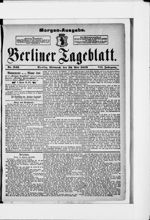 Berliner Tageblatt und Handels-Zeitung vom 28.05.1879