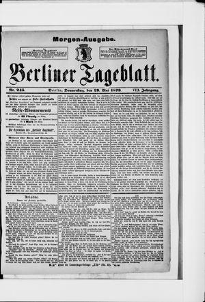 Berliner Tageblatt und Handels-Zeitung vom 29.05.1879