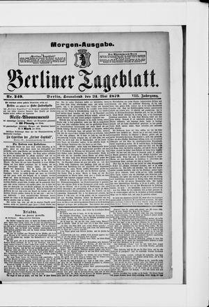 Berliner Tageblatt und Handels-Zeitung vom 31.05.1879