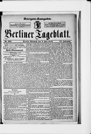 Berliner Tageblatt und Handels-Zeitung vom 04.06.1879