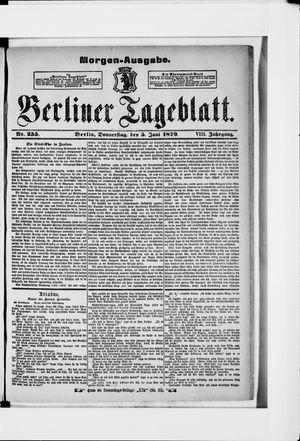 Berliner Tageblatt und Handels-Zeitung vom 05.06.1879
