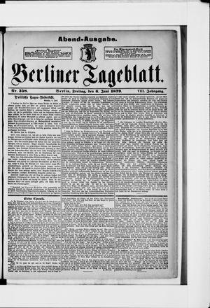 Berliner Tageblatt und Handels-Zeitung vom 06.06.1879