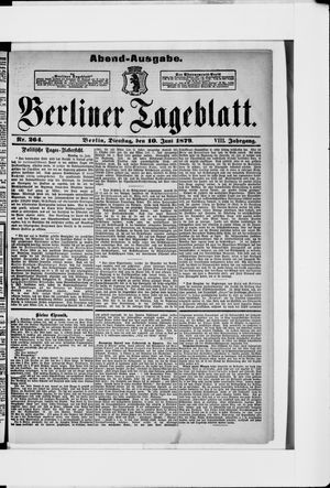 Berliner Tageblatt und Handels-Zeitung vom 10.06.1879