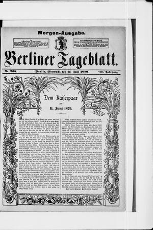 Berliner Tageblatt und Handels-Zeitung vom 11.06.1879