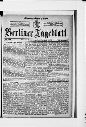 Berliner Tageblatt und Handels-Zeitung vom 12.06.1879
