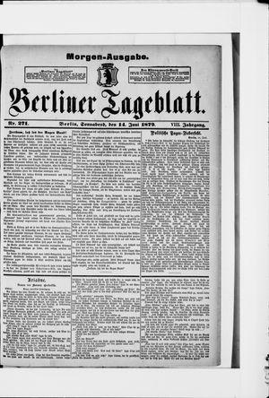 Berliner Tageblatt und Handels-Zeitung vom 14.06.1879