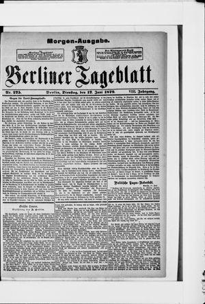 Berliner Tageblatt und Handels-Zeitung vom 17.06.1879