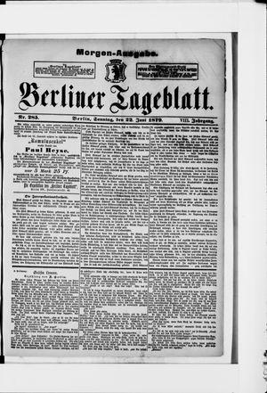 Berliner Tageblatt und Handels-Zeitung vom 22.06.1879