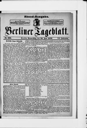 Berliner Tageblatt und Handels-Zeitung vom 26.06.1879