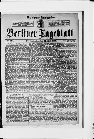 Berliner Tageblatt und Handels-Zeitung vom 27.06.1879