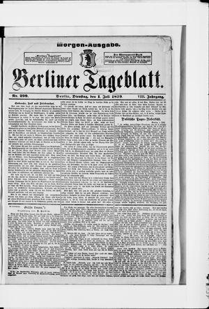 Berliner Tageblatt und Handels-Zeitung vom 01.07.1879