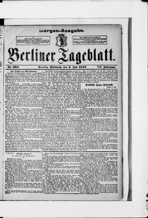Berliner Tageblatt und Handels-Zeitung vom 02.07.1879