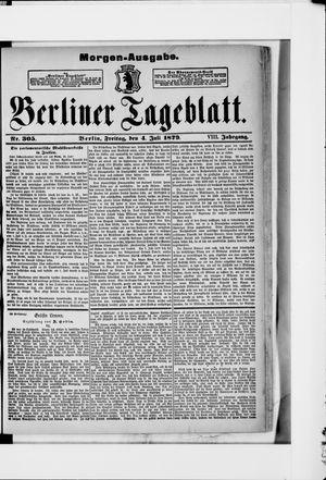 Berliner Tageblatt und Handels-Zeitung vom 04.07.1879