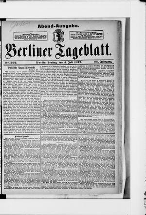 Berliner Tageblatt und Handels-Zeitung vom 05.07.1879