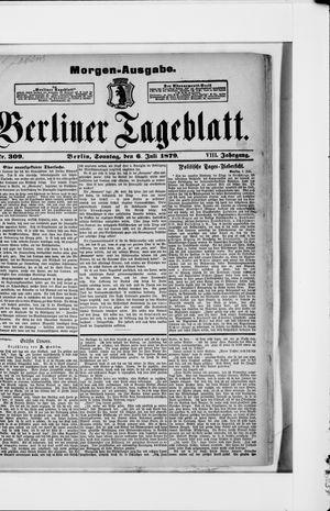 Berliner Tageblatt und Handels-Zeitung vom 06.07.1879