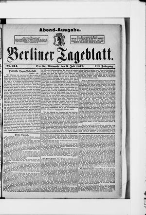 Berliner Tageblatt und Handels-Zeitung vom 09.07.1879