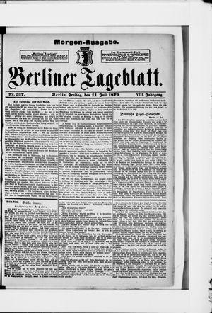 Berliner Tageblatt und Handels-Zeitung vom 11.07.1879