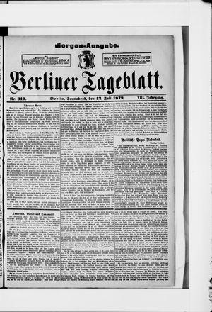 Berliner Tageblatt und Handels-Zeitung vom 12.07.1879