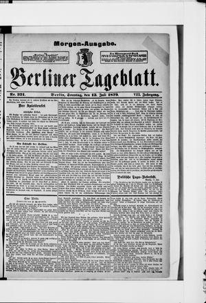 Berliner Tageblatt und Handels-Zeitung vom 13.07.1879
