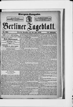 Berliner Tageblatt und Handels-Zeitung on Jul 15, 1879