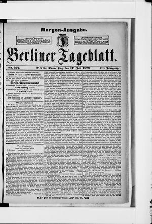 Berliner Tageblatt und Handels-Zeitung vom 17.07.1879