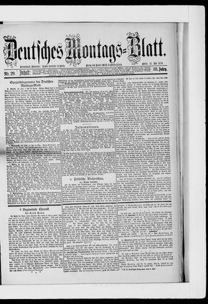 Berliner Tageblatt und Handels-Zeitung vom 21.07.1879
