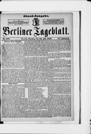 Berliner Tageblatt und Handels-Zeitung vom 22.07.1879