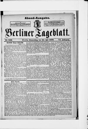 Berliner Tageblatt und Handels-Zeitung vom 24.07.1879