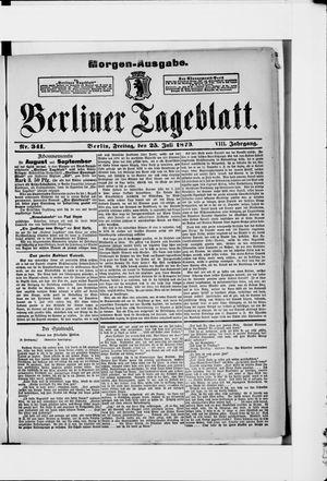 Berliner Tageblatt und Handels-Zeitung vom 25.07.1879