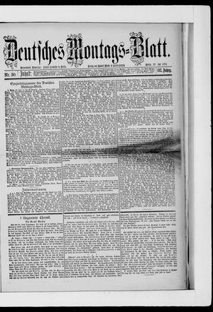 Berliner Tageblatt und Handels-Zeitung on Jul 28, 1879