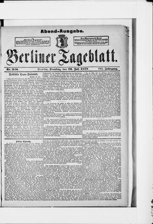 Berliner Tageblatt und Handels-Zeitung vom 29.07.1879