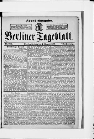 Berliner Tageblatt und Handels-Zeitung vom 01.08.1879