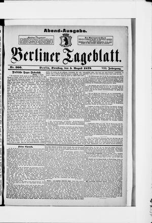 Berliner Tageblatt und Handels-Zeitung vom 05.08.1879