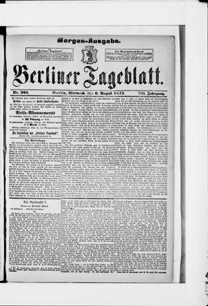 Berliner Tageblatt und Handels-Zeitung on Aug 6, 1879