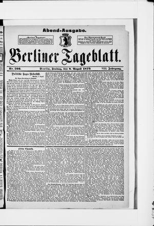 Berliner Tageblatt und Handels-Zeitung vom 08.08.1879