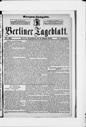 Berliner Tageblatt und Handels-Zeitung vom 09.08.1879