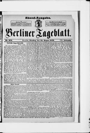 Berliner Tageblatt und Handels-Zeitung vom 12.08.1879