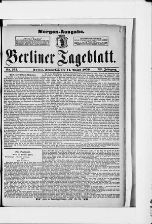 Berliner Tageblatt und Handels-Zeitung vom 14.08.1879