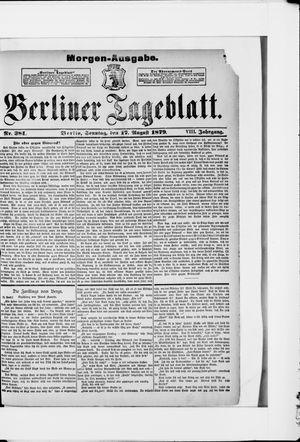 Berliner Tageblatt und Handels-Zeitung vom 17.08.1879