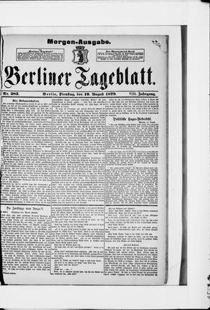 Berliner Tageblatt und Handels-Zeitung vom 19.08.1879
