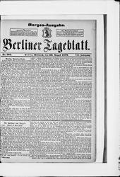 Berliner Tageblatt und Handels-Zeitung (20.08.1879)