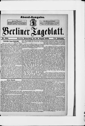 Berliner Tageblatt und Handels-Zeitung vom 21.08.1879