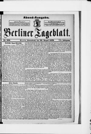 Berliner Tageblatt und Handels-Zeitung vom 23.08.1879