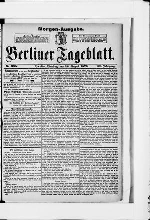 Berliner Tageblatt und Handels-Zeitung vom 26.08.1879