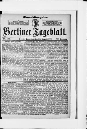Berliner Tageblatt und Handels-Zeitung vom 28.08.1879