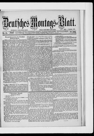 Berliner Tageblatt und Handels-Zeitung on Sep 1, 1879