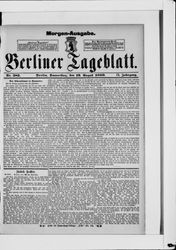 Berliner Tageblatt und Handels-Zeitung (19.08.1880)