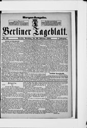 Berliner Tageblatt und Handels-Zeitung (22.02.1881)