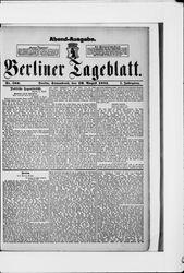 Berliner Tageblatt und Handels-Zeitung (20.08.1881)