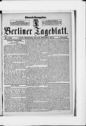 Berliner Tageblatt und Handels-Zeitung (22.09.1881)